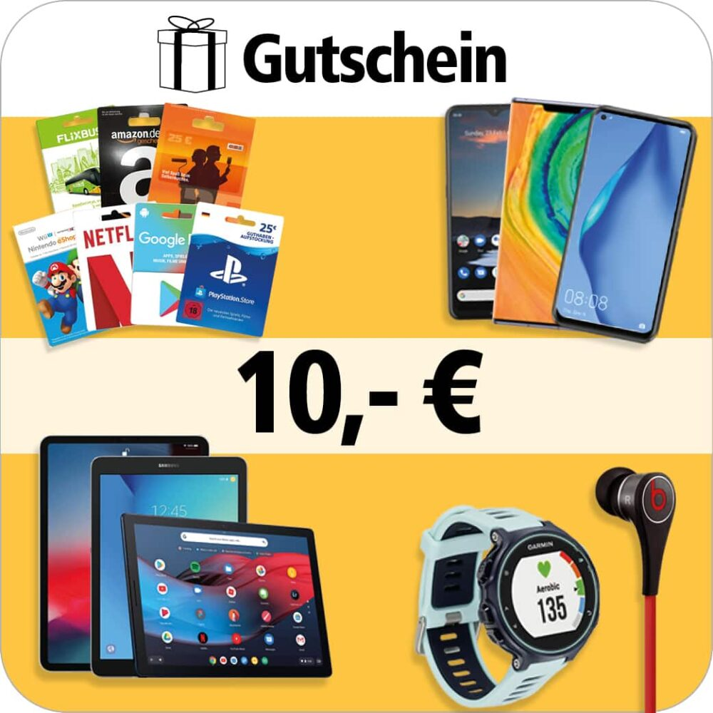 Gutscheinkarte im Wert von 10€
